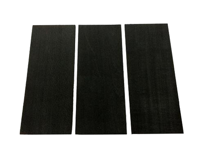 black softened poplar slat